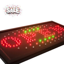 High Visible Led Light Business Open Sign Chain Switch 25*48 3 Color New