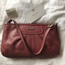 NEW Authentic COACH Large Leather Wristlet Clutch Bag Ginger Beet Pink Ltd Edtn