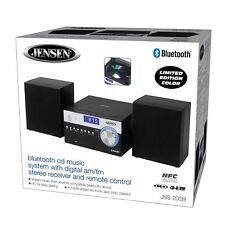 Jensen Bluetooth Compact Shelf AM/FM Stereo CD Player Music System AUX-IN Remote
