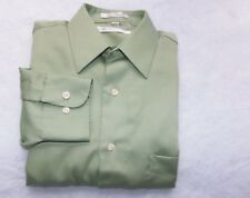 Geoffrey Beene Men's Dress Shirt Wrinkle Free Green 15 32/33