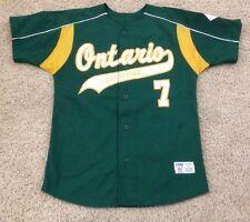 Ontario Christian High School #7 game used worn baseball jersey M California CA