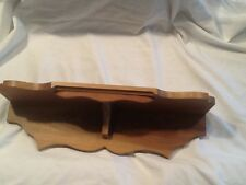 Handcrafted walnut Wall Shelf 20 1/2 in detailed, carving, EUC