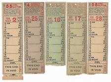 Rare Lot of 5 CSR tickets VINE CLIFTON PRICE HILL KENNEDY HEIGHTS 1930s 40s