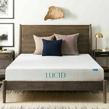 LUCID 8 Inch Gel Infused Memory Foam Mattress Medium Firm Feel Twin XL