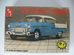 Vintage AMT 55 CHEVY COUPE BEL AIR KIT 2n1 1/16 Scale 1955 Chevrolet Unbuilt