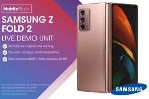 Brand New Samsung Galaxy Z Fold 2 Mystic Bronze 256GB - LIVE DEMO UNIT fold2