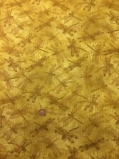 Dragonflies 100% Cotton Quilt Craft Fabric Natures Etchings 3462 Benartex