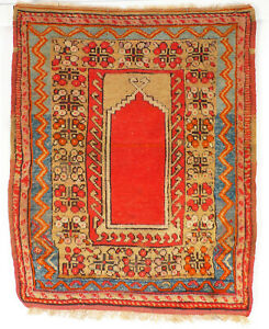 An antique, Central Anatolian prayer rug from a village around Konya