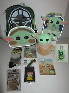 Star Wars Mandalorian THE CHILD 8pc BACKPACK gift set ~ GROGU Baby Yoda ~ NEW!