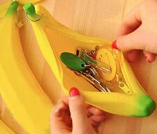 Newly Coin Purse Pencil Case Portable Cute Banana Silicone Pen Bag Wallet pouch