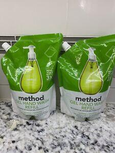 Lot of (2) Method Gel Hand Wash Soap Refill, Cucumber 34 Oz Each NEW!!