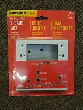 WireMold Legrand Bw32 On-Wall Metal 2-Gang Box
