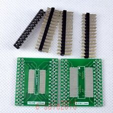 2pcs NEW TSOPII/SOP56 SDRAM to DIP Adapter PCB Board Converter Double Sides E12