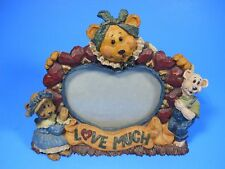 "Boyds Bears Friends Martha Bigheart ""Love Much"" heart shaped frame Limited 1999"