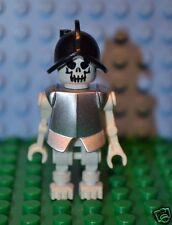 LEGO Minifigure Evil Skeleton Fantasy Era w silver armor 7627 Castle GEN021a OIF