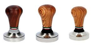 Tamper / Andrücker Asso Coffe Holz für Espressomaschinen