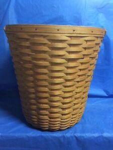 Longaberger 1999 Classic Hostess Banker's Waste Basket & Plastic Protector