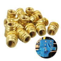 For 3D Printer Long 3mm M3-0.5 Brass Threaded Metal Heat Set Screw Insert 50pcs