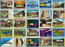 25 alte Gasthaus-Streichholzetiketten aus Deutschland #541