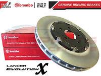 FOR MITSUBISHI LANCER EVO X 10 FRONT BREMBO 2 PIECE FLOATING BRAKE DISCS 350mm