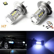 1 Pair Car 80W H7 8000K 2828 LED Headlight Foglight Bulbs+Load Resistor Decoders