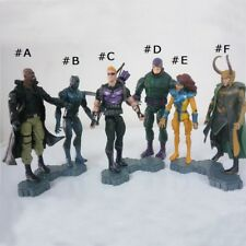 Marvel Comic Hero Loki Shield Fury Hawkeye Black Panther Figure Toy Without Base