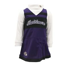 Baltimore Ravens Official NFL Infant Toddler 2-Piece Cheerleader Outfit New Tags