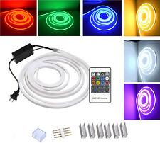 DHL 10-100M AC220V 2835SMD 120leds/m Flex LED Neon Light Strip Outdoor Rope IP67
