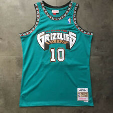 Mike Bibby #10 Vancouver Grizzlies Men's Teal Jersey S-M-L-XL-XXL