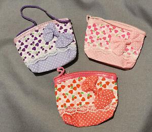 Little Girls Handbag Over Shoulder Bag Coin Purse Cute Bow Pink Purple Kids
