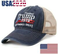 Trump Hat Keep America Great 2020 Campaign Mesh Hat Adjustable Baseball Cap Blue