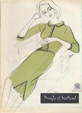 1960 Pringle of Scotland PRINT AD green fashion dress