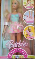 Barbie Easy For Me 1 2 3 Doll Easy To Dress Stand Brush 2006 NIB K8571