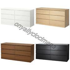 cassettiera 6 cassetti IKEA MALM 160X78 legno camera cameretta stanza da letto