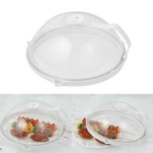 26.5x10.5cm TOPBATHY Placa de microondas Cubierta para Alimentos Salpicaduras de Alimentos Hover Anti-Sputtering Gorra Platos para Platos Cubierta para Alimentos manija de Color Aleatorio