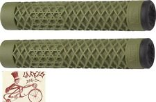 CULT BIKES VANS FLANGELESS ARMY GREEN BMX BICYCLE SCOOTER FIXED GRIPS