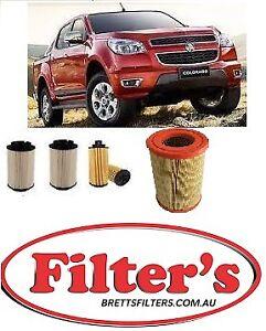 FILTER KIT Holden Colorado RG Service Kit 2.8TD 2012 on Oil Filter Air Fuel 2.8L