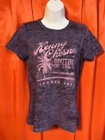 KENNY  CHESNEY .. Brothers of the Sun 2012 Tour Purple T-Shirt .. Womens Size XL