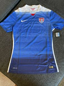 Nike TEAM ISSUED 2015 Men's USA Soccer Authentic Jersey Away 641986-480 Medium