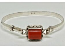 AUTHENTIC 925 SILVER BRACELET TIBETAN HANDMADE NEW NEPALESE CORAL BANGLE