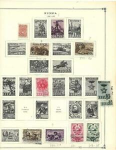 Large MNH, CTO Russia Collection On Scott Album Pages (1941-1960) - MUST SEE!!!