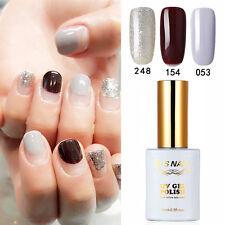 3 PIECES RS 053_154_248 Gel Nail Polish UV LED Glitter Varnish Soak Off 0.5oz