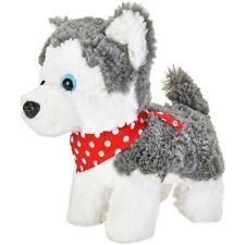 My Life As Plush Pet Husky with Red Polka-Dot Bandana, Gray & White