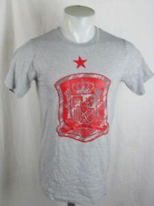 Spain Soccer Futbol Men's Adidas Gray Go-To Climalite T-shirt