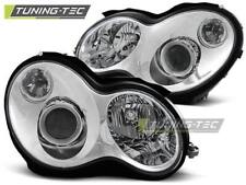 FARI ANTERIORI HEADLIGHTS MERCEDES W203 C-KLASA 00-04 CHROME