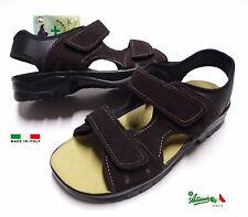 Sandali uomo camoscio comodi strappo solettaPELLE italiani MADEinITALY GF511TdM