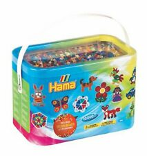 Hama Beads 10,000 Beads and Peg Boards Tub Set, Pegboards Childrens Bead Gift