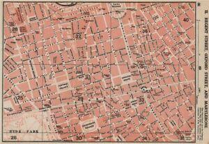 MARYLEBONE. Regent Street Oxford Street Mayfair Soho Fitzrovia. Vintage map 1927
