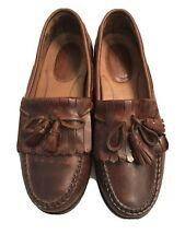Johnston & Murphy Signature Series Brown Leather Kiltie Tassel Loafers Size 10M