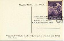ARGENTINIEN 1950 Internationale Briefmarkenausstellung, Buenos Aires 10C+10C SST
